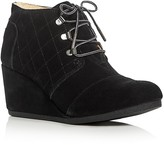 Toms Desert Faux Shearling Wedge Booties