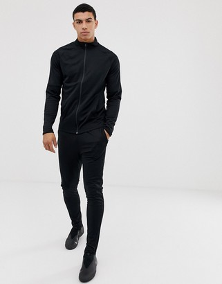 Nike Football academy tracksuit set in black