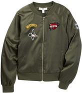Fire Bomber Jacket With Patches (Big Girls)