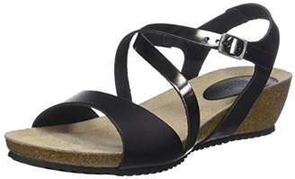 TBS Women's Stefany Open Toe Sandals, Black (Noir + Bronze D34)