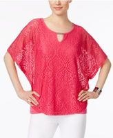 JM Collection Lace Keyhole Poncho, Created for Macy's