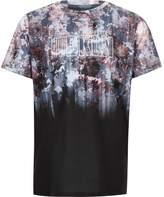 River Island Boys black floral fade print 'Bkln' T-shirt