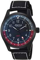 Alpina Men's 'Startimer' Swiss Quartz Stainless Steel and Nylon Casual Watch, Color:Black (Model: AL-247BR4FBS6)