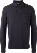 Loro Piana open neck polo top