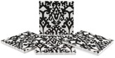 Thirstystone Samara Black Ikat 4-Pc. Coaster Set