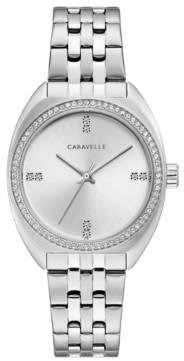 Caravelle Designed by Bulova Women's Stainless Steel Bracelet Watch 33mm