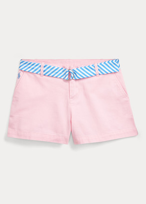 Ralph Lauren Belted Cotton Chino Short