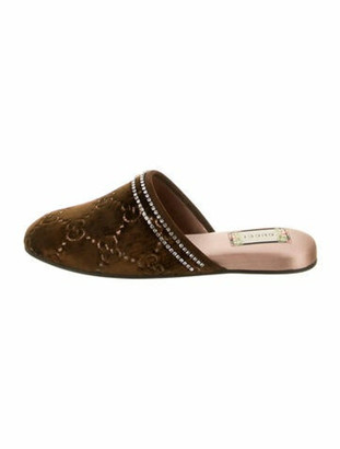 Gucci 2018 GG Canvas Mules w/ Tags Brown