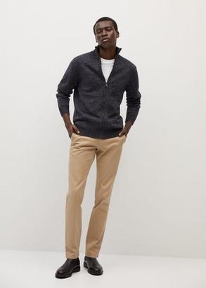 MANGO MAN - Flecked wool-blend cardigan navy - S - Men