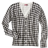 Merona Women's Ultimate V-Neck Cardigan Sweater - Black/White