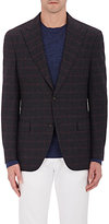 Luciano Barbera MEN'S CHECKED WOOL-CASHMERE TWO-BUTTON SPORTCOAT