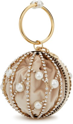 Rosantica Chloe crystal-embellished top handle bag