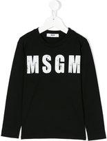 MSGM long sleeve printed T-shirt