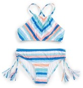 Seafolly Girl's Moon Child Stripe Two-Piece Swimsuit