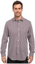 Nautica Long Sleeve Wrinkle Resistant Small Check Shirt