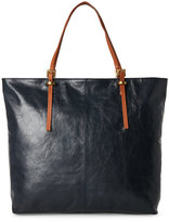 Latico Leathers Navy Leather Buckle Tote