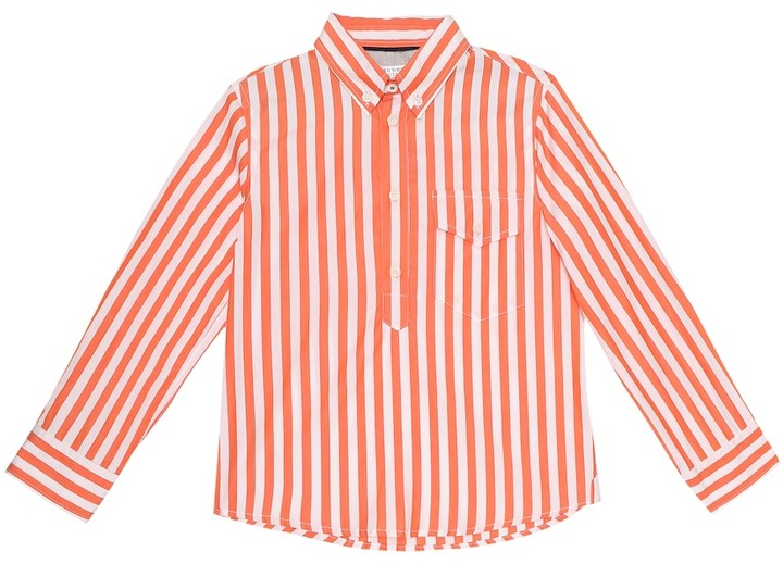 Thumbnail for your product : BRUNELLO CUCINELLI KIDS Exclusive to Mytheresa Striped cotton shirt
