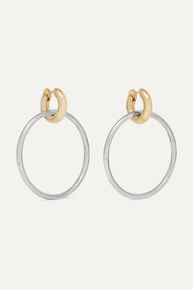 Spinelli Kilcollin Casseus Sterling Silver And 18-karat Gold Earrings