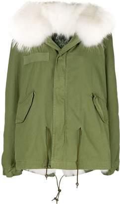 Mr & Mrs Italy fur hood short parka coat