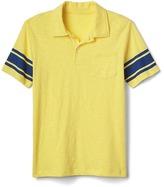 Gap Stripe-sleeve pocket polo