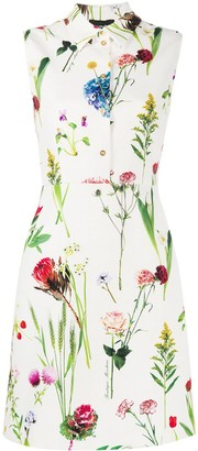 Boutique Moschino Photographic-Floral Shirt Dress