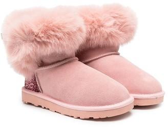 MonnaLisa TEEN glitter-embellished boots