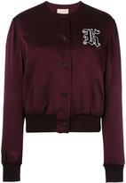 Christopher Kane Cady cropped bomber jacket