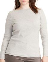 Lauren Ralph Lauren Plus Jersey Boatneck Top