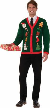 Forum Novelties Inc. Forum Women's Plus-Size Extra Large Everything Christmas Ugly Cardigan