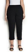 Classic Women's Plus Size Petite Sport Knit Crop Pants-White