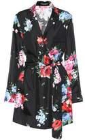 Dolce & Gabbana Floral-printed silk pyjama shirt