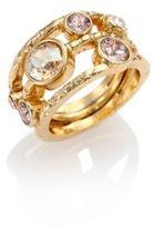 Oscar de la Renta Circular Crystal Ring