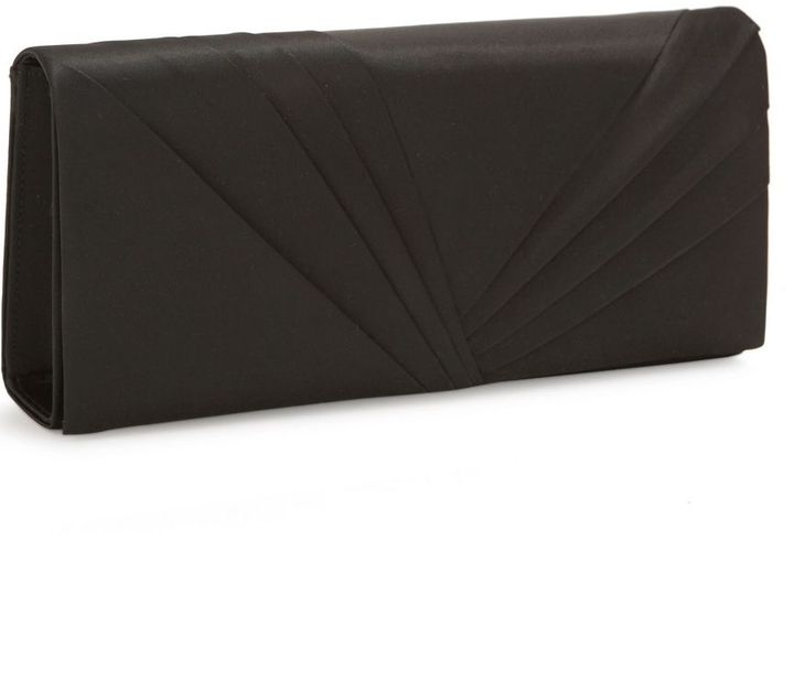 Kate Landry east-west pleated flap clutch