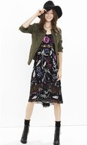 Express Floral Lace Inset Midi Dress