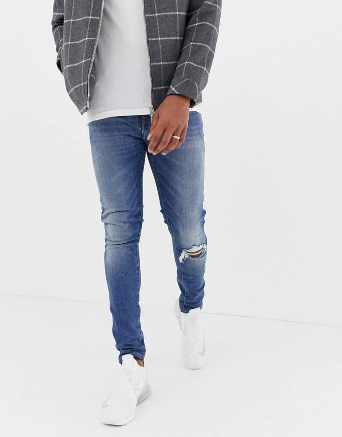 e636d8ebbb Mens Zip And Ripped Jeans - ShopStyle UK