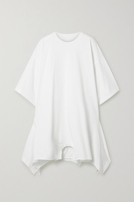 MM6 MAISON MARGIELA Oversized Asymmetric Cotton-jersey Dress - White