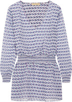 Paloma Blue - Fiji Printed Silk Coverup - large