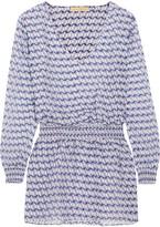 Paloma Blue - Fiji Printed Silk Coverup - small