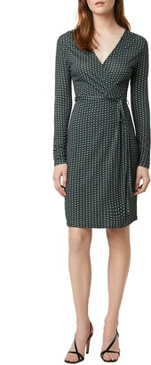 French Connection Cosimo Meadow Floral & Dot Long Sleeve Faux Wrap Dress