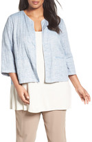 Eileen Fisher Gauze Quilted Jacket (Plus Size)