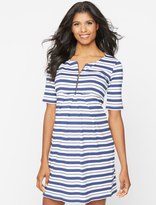A Pea in the Pod Isabella Oliver Beaumont Striped Maternity Dress