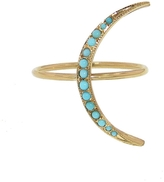 Andrea Fohrman Thin Turquoise Crescent Moon Ring