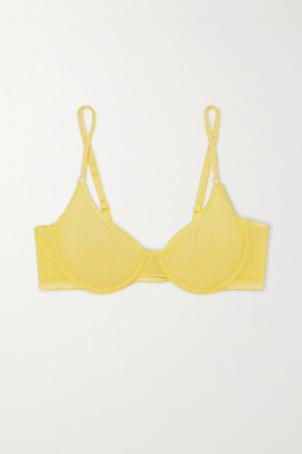Cosabella Soire Confidence Mesh Underwired Bra - Pastel yellow