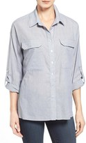 Matty M Women's Roll Sleeve Utility Shirt