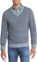Nordstrom Plaited Cashmere V-Neck Sweater
