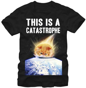 Chin Up Apparel Men's Tee Shirts BLACK - Black 'This Is a Catastrophe' Tee - Men