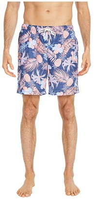 Tommy Bahama Naples Midnight Coral Swim Trunks (Ocean Deep) Men's Swimwear