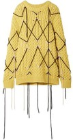 Calvin Klein 205w39nyc Embroidered Wool And Mohair-blend Sweater