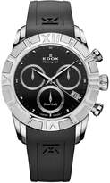 Edox Women's 10405 3 NIN Royal Lady Chronograph Dial Rubber Watch