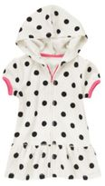 Crazy 8 Hooded Polka Dot Terry Swim Cover-Up